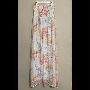 Old navy strapless floral maxi dress